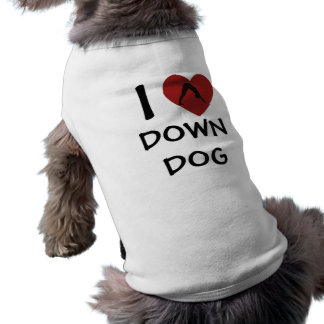 Iハートは-犬のためのヨガの衣類の後をつけます ペット服