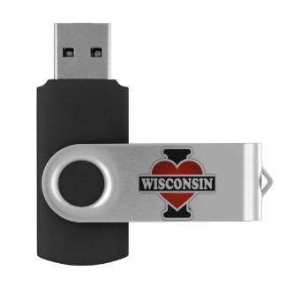 Iハートウィスコンシン USBフラッシュドライブ