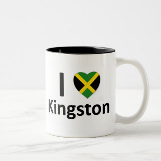 Iハートキングストン(ジャマイカ) ツートーンマグカップ