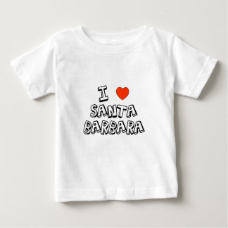 Iハートサンタ・バーバラ ベビーTシャツ