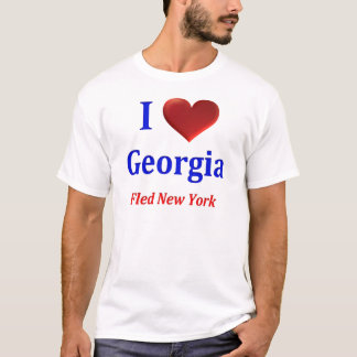 Iハートジョージアはニューヨークを逃げました Tシャツ