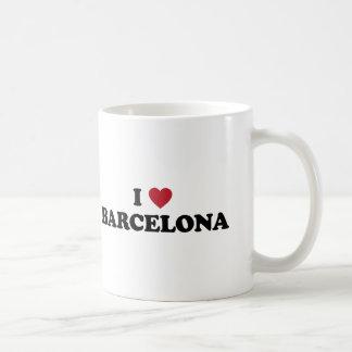 Iハートバルセロナスペイン コーヒーマグカップ