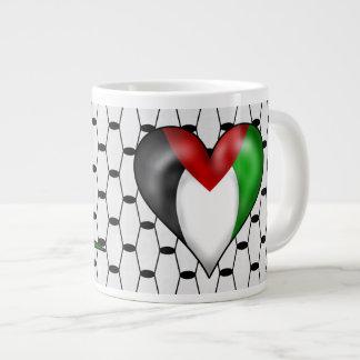 Iハートパレスチナ ジャンボコーヒーマグカップ