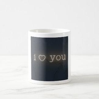 Iハートマグのためのネオン手紙 モーフィングマグカップ