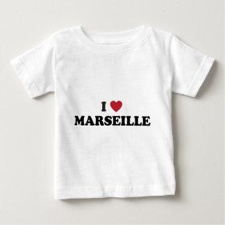 Iハートマルセーユフランス ベビーTシャツ