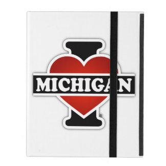 Iハートミシガン州 iPad ケース