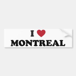 Iハートモントリオールカナダ バンパーステッカー