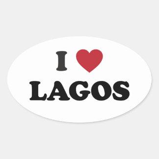 Iハートラゴスナイジェリア 楕円形シール