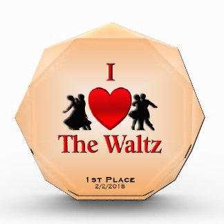 Iハートワルツのダンス賞 表彰盾