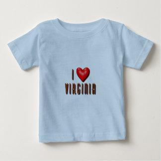 Iハートヴァージニア ベビーTシャツ