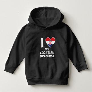 Iハート私のクロアチアの祖母 パーカ