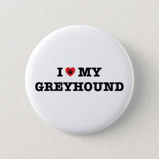 Iハート私のグレイハウンドボタン 5.7CM 丸型バッジ