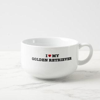 Iハート私のゴールデン・リトリーバー スープマグ