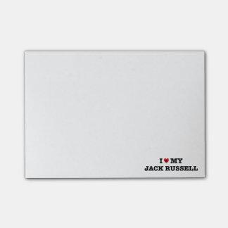 Iハート私のジャックラッセルのポスト・イット ポストイット