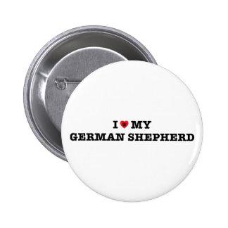 Iハート私のジャーマン・シェパードボタン 5.7CM 丸型バッジ