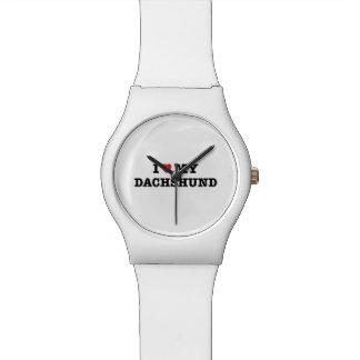 Iハート私のダックスフントMay28thの腕時計 腕時計