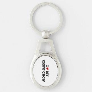 Iハート私のチャウチャウの金属Keychain キーホルダー