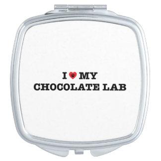Iハート私のチョコレート実験室のコンパクトの鏡