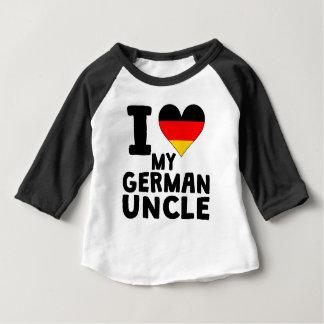 Iハート私のドイツの叔父さん ベビーTシャツ