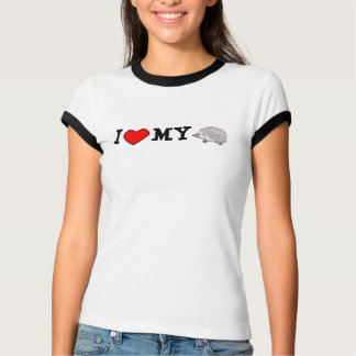Iハート私のハリネズミの信号器T Tシャツ