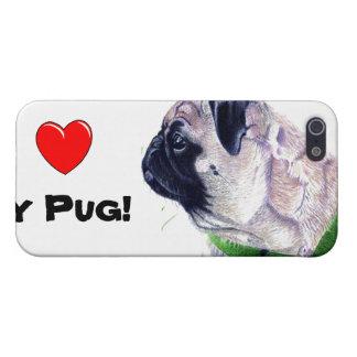 Iハート私のパグ! 犬 iPhone 5 カバー