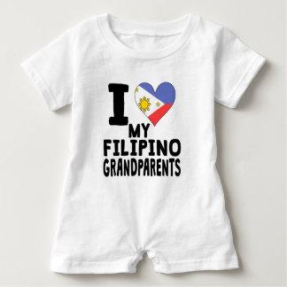 Iハート私のフィリピンの祖父母 ベビーロンパース