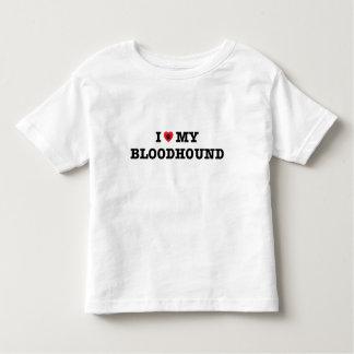 Iハート私のブラッドハウンドの幼児のTシャツ トドラーTシャツ