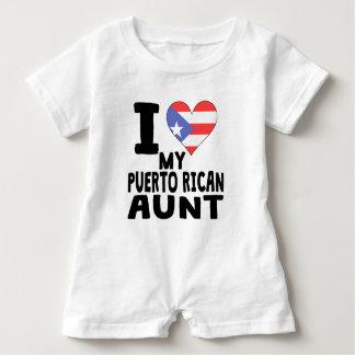 Iハート私のプエルトリコの叔母さん ベビーロンパース
