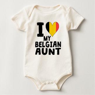 Iハート私のベルギーの叔母さん ベビーボディスーツ