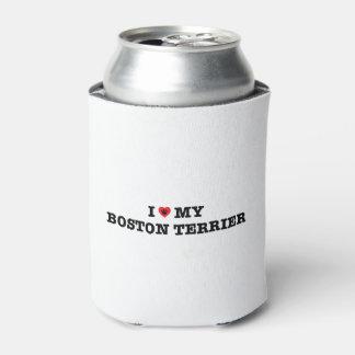 Iハート私のボストンテリアのクーラーボックス 缶クーラー