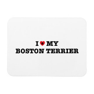Iハート私のボストンテリアの適用範囲が広い磁石 マグネット