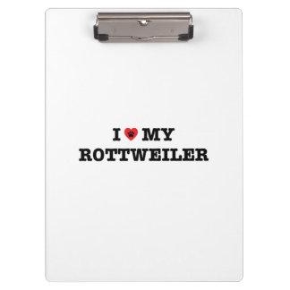 Iハート私のロットワイラーのクリップボード クリップボード