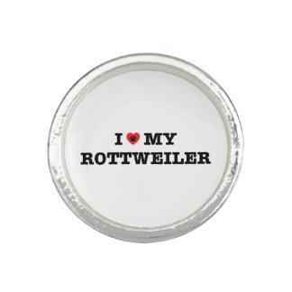 Iハート私のロットワイラーのリング リング
