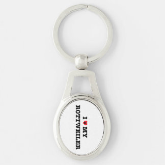 Iハート私のロットワイラーの金属Keychain キーホルダー