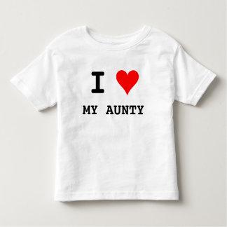 Iハート私の伯母さん トドラーTシャツ