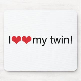 Iハート私の双生児 マウスパッド