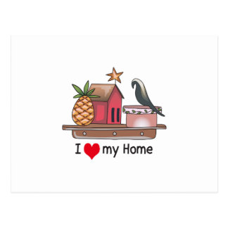 Iハート私の家 ポストカード