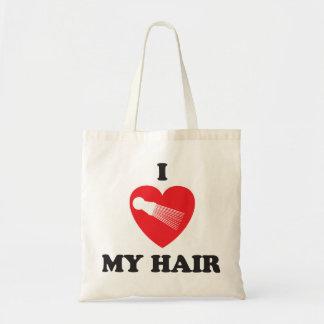 Iハート私の毛のファッション トートバッグ