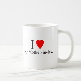 Iハート私の義母 コーヒーマグカップ