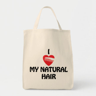 Iハート私の自然な毛のファッション トートバッグ
