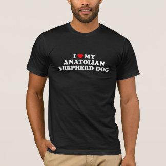 Iハート私のAnatolian羊飼い犬の暗闇のTシャツ Tシャツ