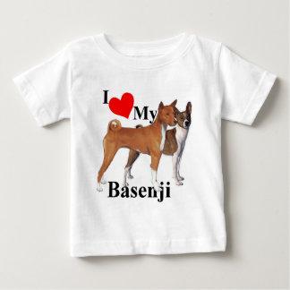 Iハート私のBasenji ベビーTシャツ
