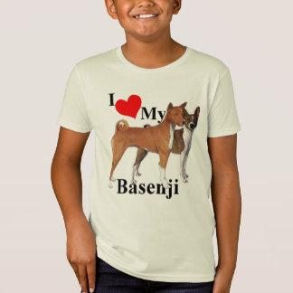 Iハート私のBasenji Tシャツ