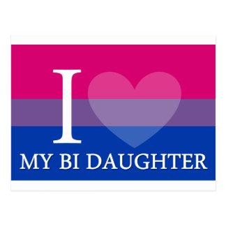 Iハート私のBiの娘 ポストカード