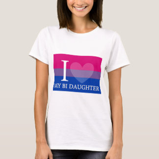 Iハート私のBiの娘 Tシャツ