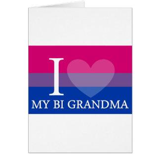 Iハート私のBiの祖母 カード