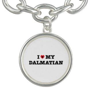 Iハート私のDalmatianチャームブレスレット チャームブレスレット