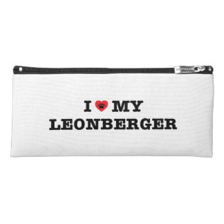 Iハート私のLeonbergerの筆箱 ペンシルケース