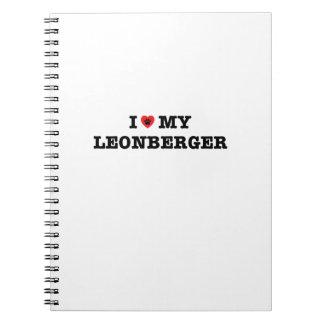 Iハート私のLeonbergerの螺線形ノート ノートブック