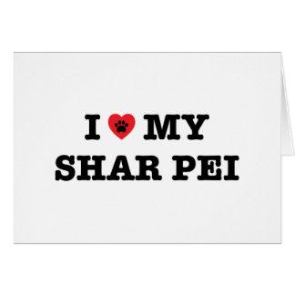 Iハート私のShar Peiの挨拶状-中ブランク カード